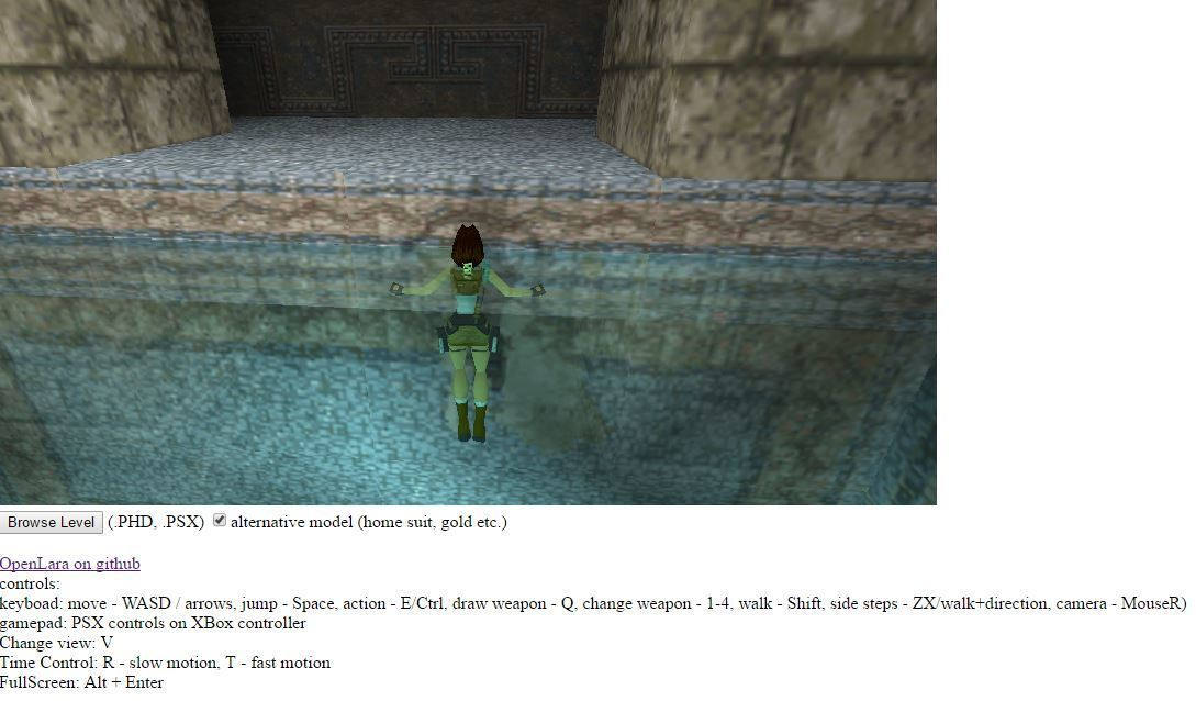 Il primo Tomb Raider giocabile via browser