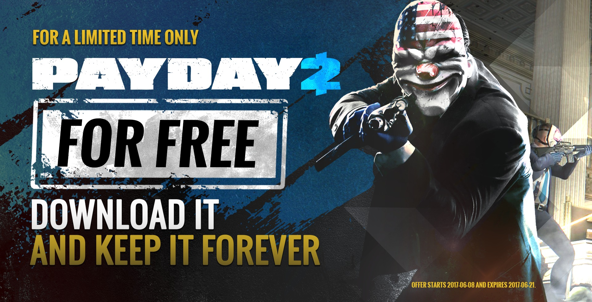 Payday 2 gratuito a tempo limitato su Steam