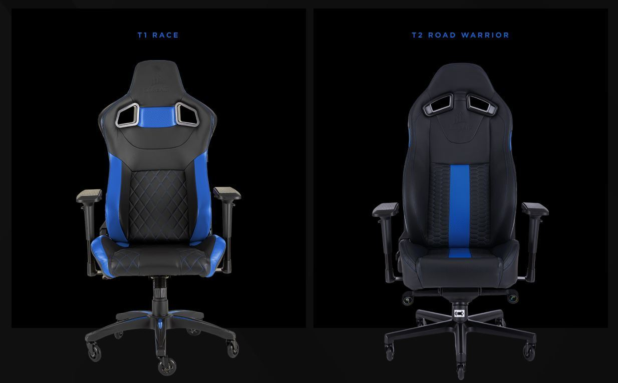 Sedie Blu Elettrico : T road warrior e t race nuove sedie gaming corsair tom s