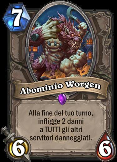 Abominio Worgen