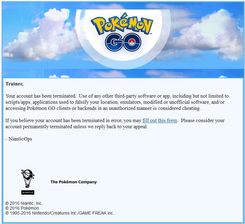 Pokemon GO: chi imbroglia sarà bannato in modo definitivo