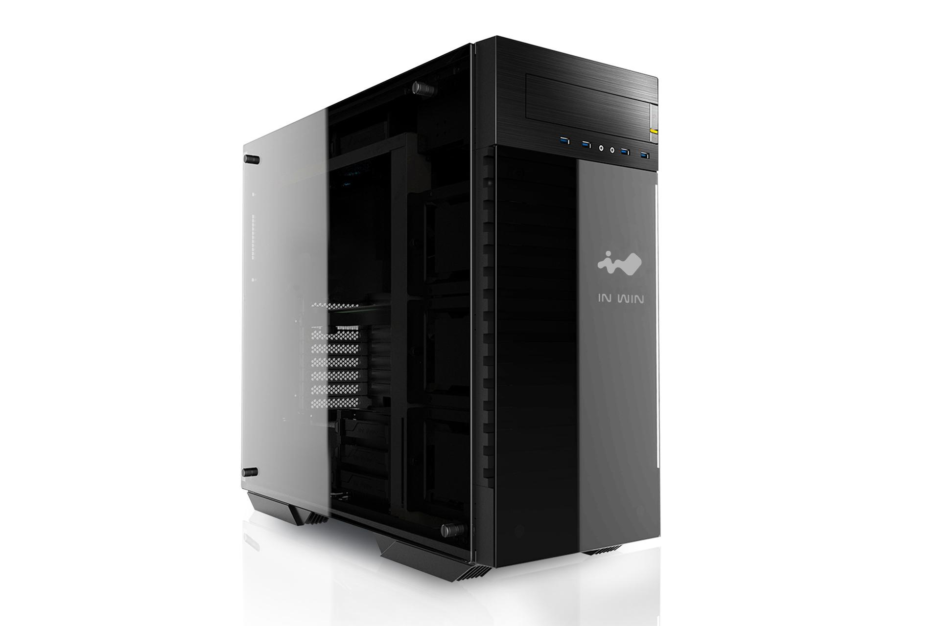 In win 509 case in acciaio e vetro per computer al top for Case in vetro