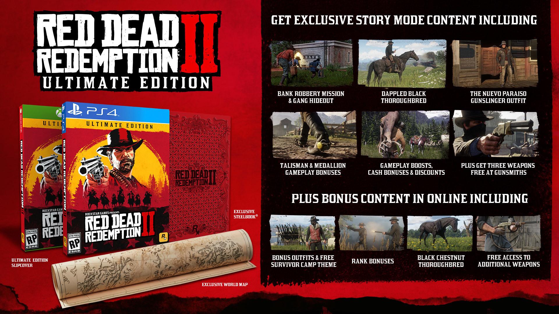 Red Dead Redemption 2: emergono dettagli sui bonus preorder della versione digitale