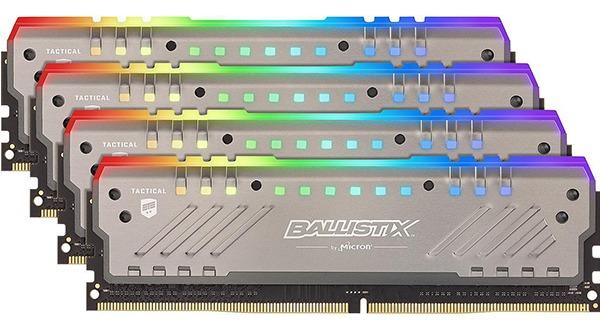 Crucial Ballistix Tactical Tracer RGB 4 x 8 GB DDR4-2666