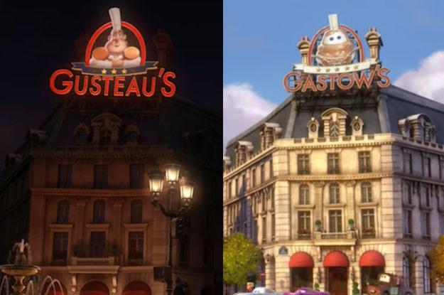 Ratatouille – Cars 2 Disney Pixar Easter eggs