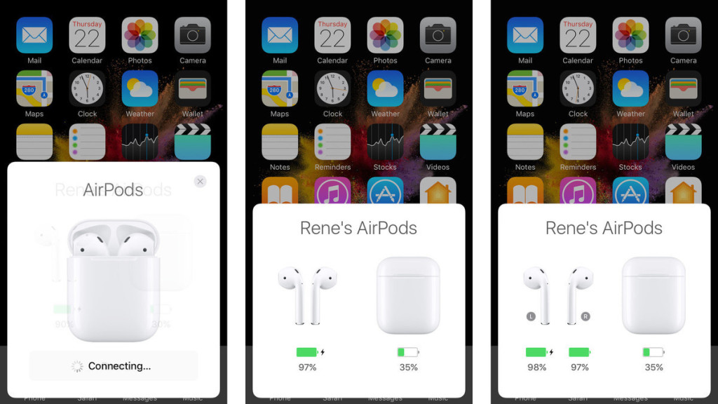 airpods pairing screens