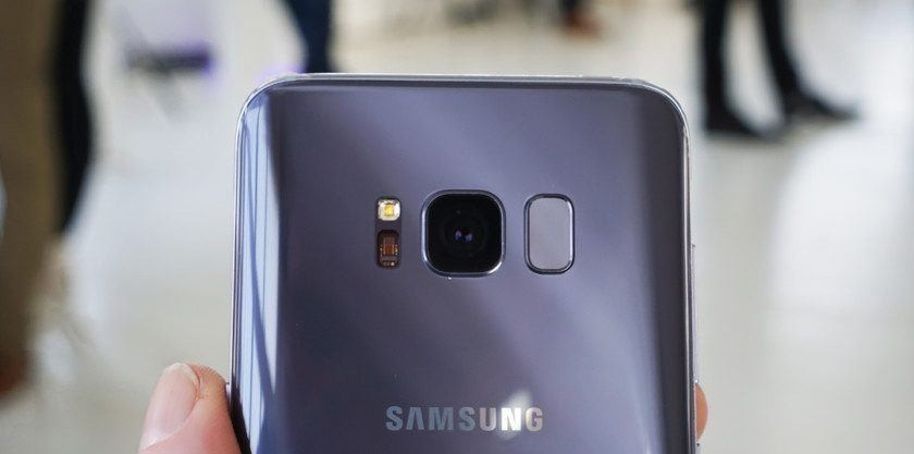 Samsung Galaxy S8 Orchid Gray back