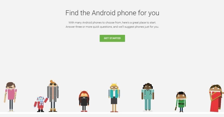 Google ti aiuta a scegliere lo smartphone Android perfetto