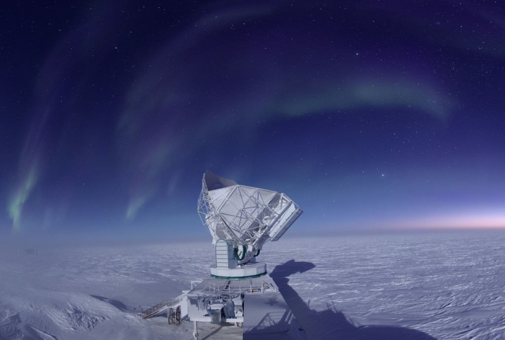south pole telescope  Credit Jason Gallicchio, University of Chicago