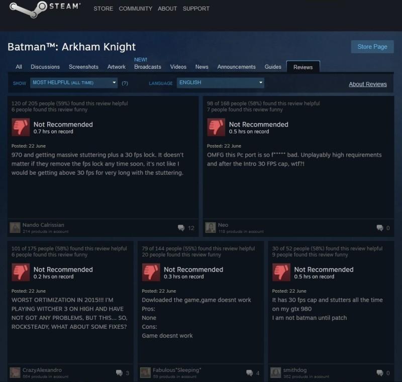 Batman Arkham Knight al debutto: nuovi driver e un sacco di problemi su PC - Tom's Hardware