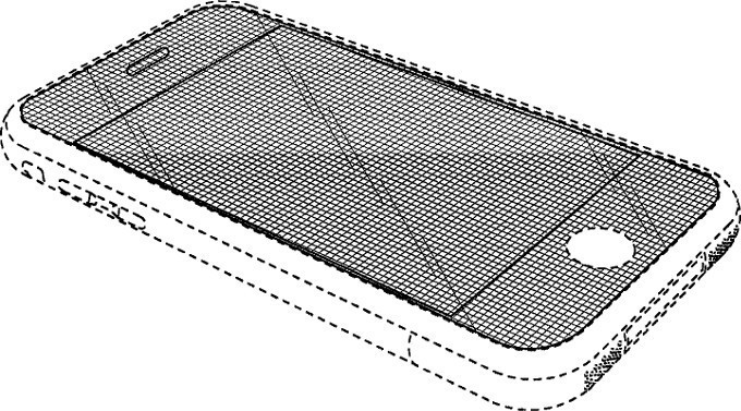 iphone curved display patent drawing