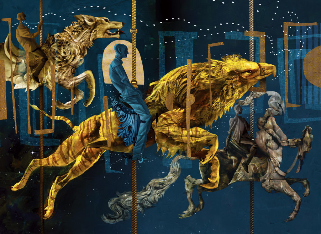 American Gods Illustration by Dave McKean Carousel