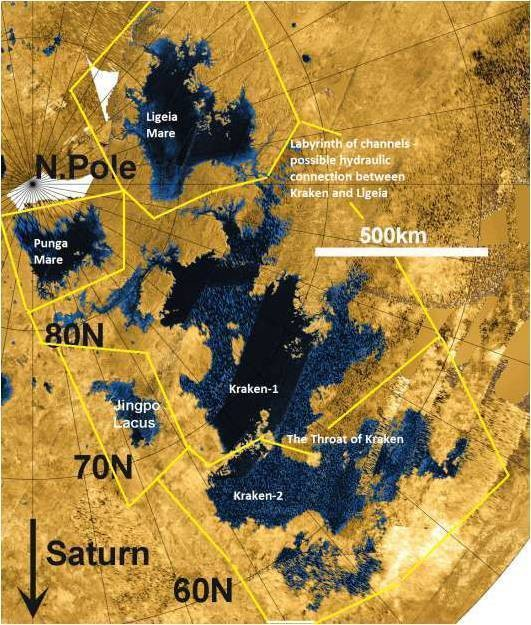 Radar map of Titan's seas