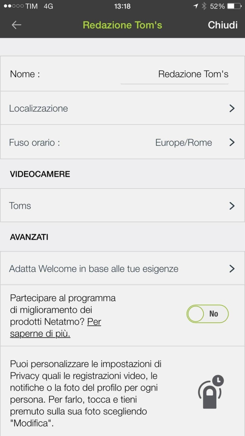 netatmo wellcome interfaccia 010