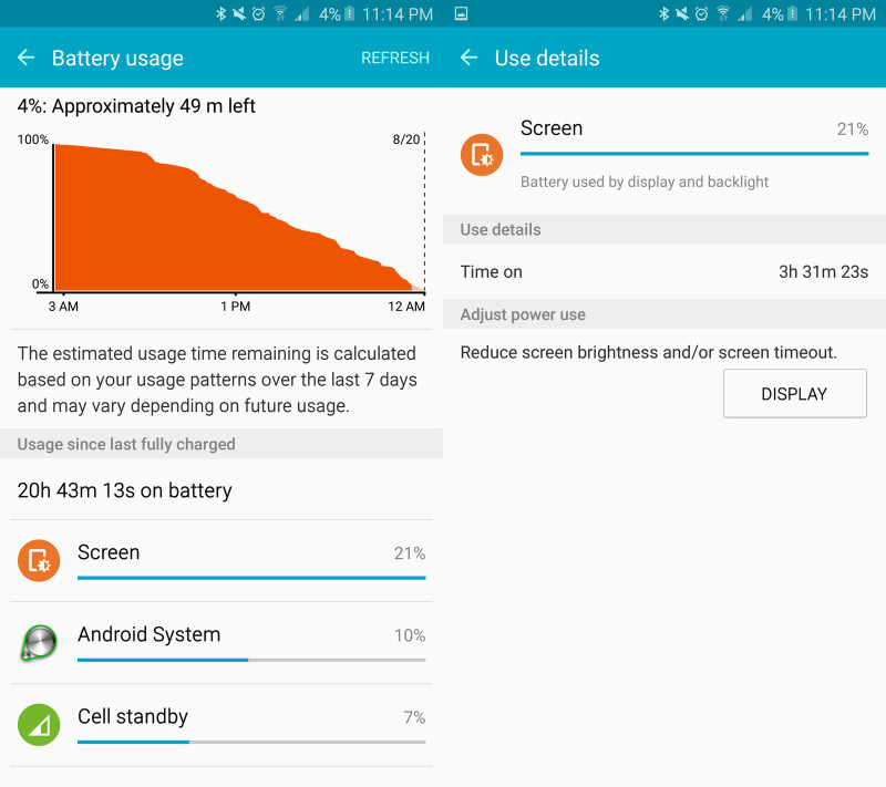 note 5 battery life screens 2