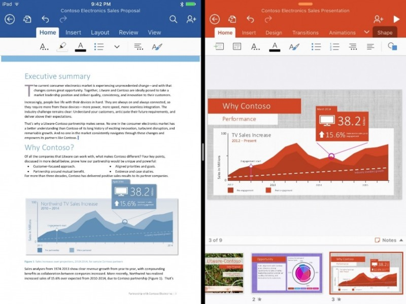 Office updates for the iPad 2 1024x768