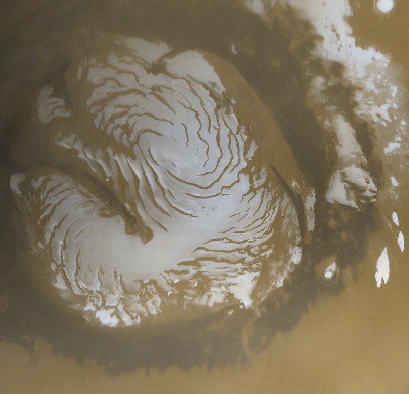 martian north polar cap
