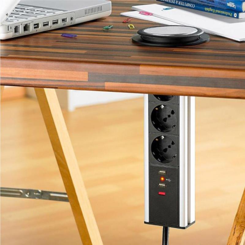 Intellinet la multipresa da tavolo con porte usb che for Copie mobili design