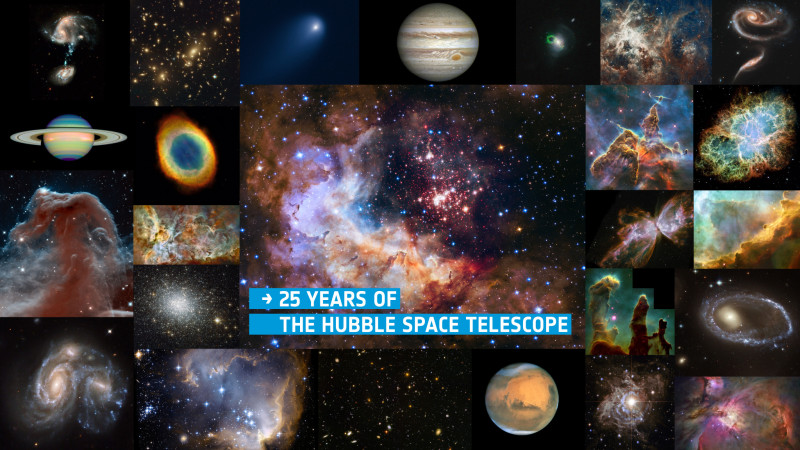 Hubble 25 with title