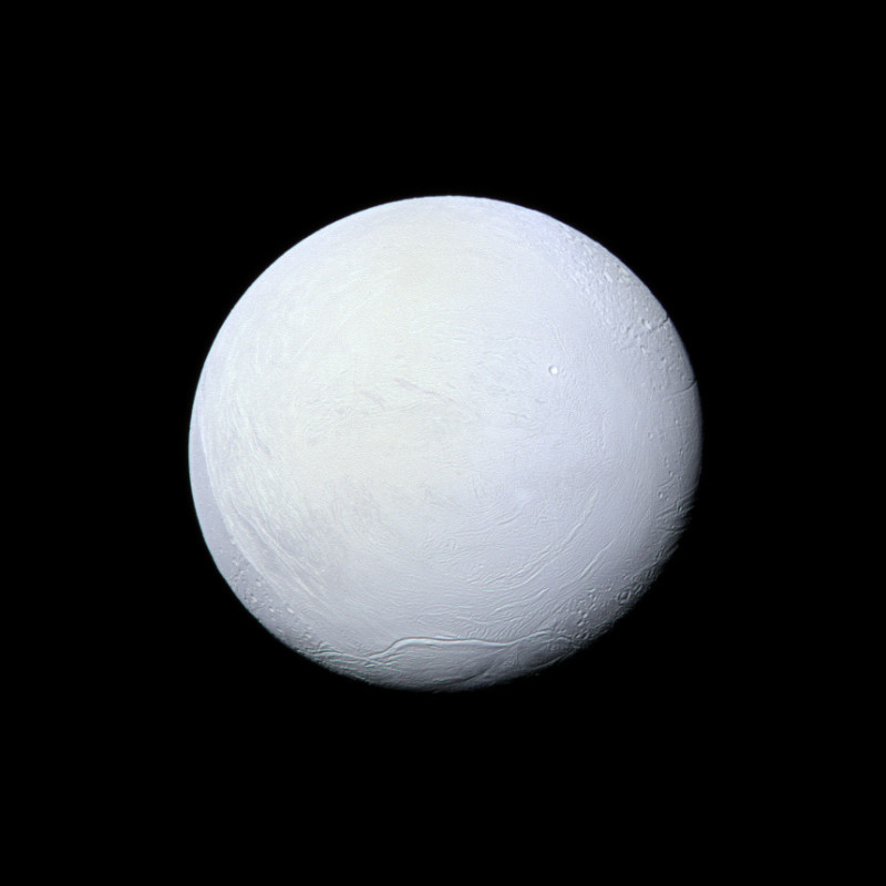 NASA's Cassini spacecraft captured this view of Saturn's moon Enceladus on March 10, 2012