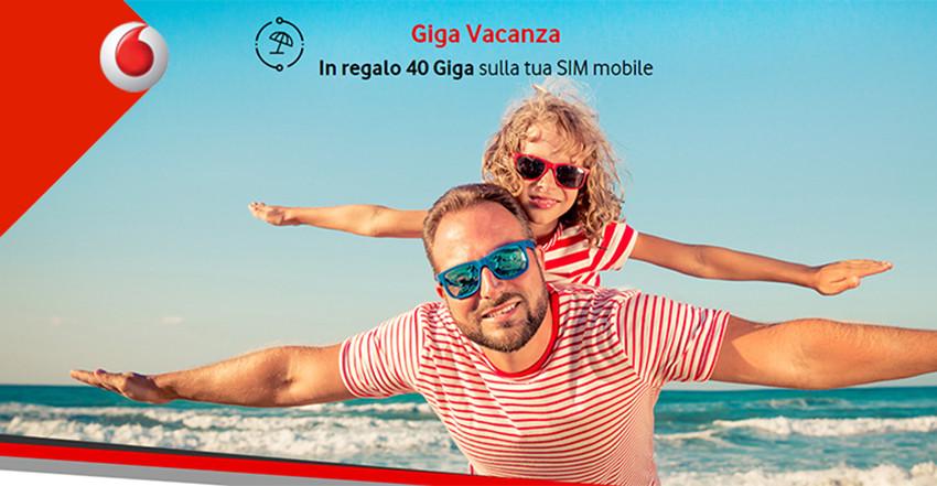 Vodafone Giga Vacanza: 40 GB gratis ai clienti fisso & mobile