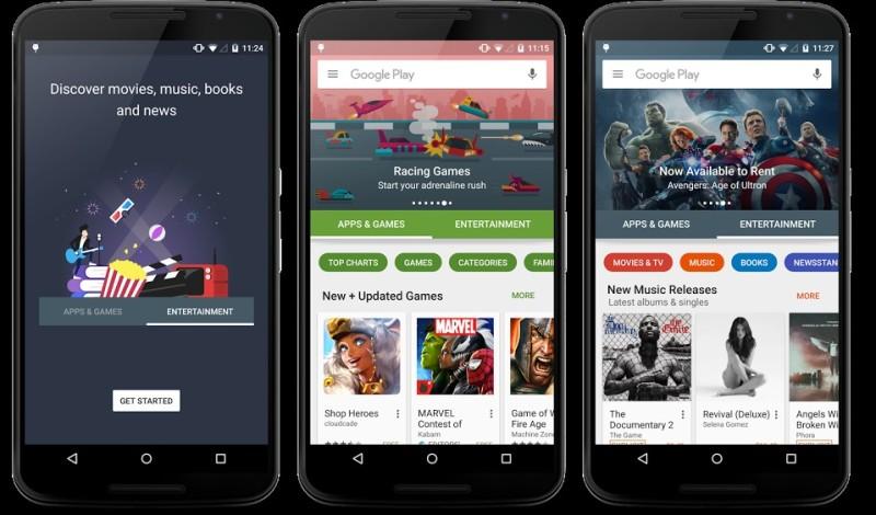 Google Play Nuova Versione