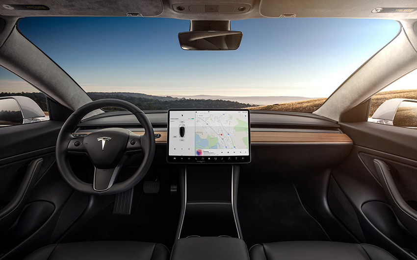 Model 3 Interior Dashboard   Head On