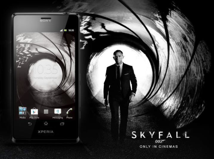 sony xperia t james bond 007 skyfall phone