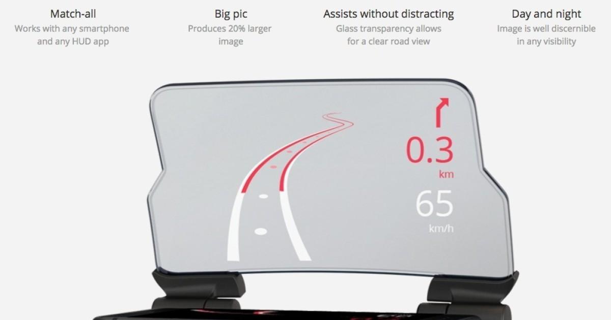 Hudway Glass, il gadget per avere la realtà aumentata su ogni auto