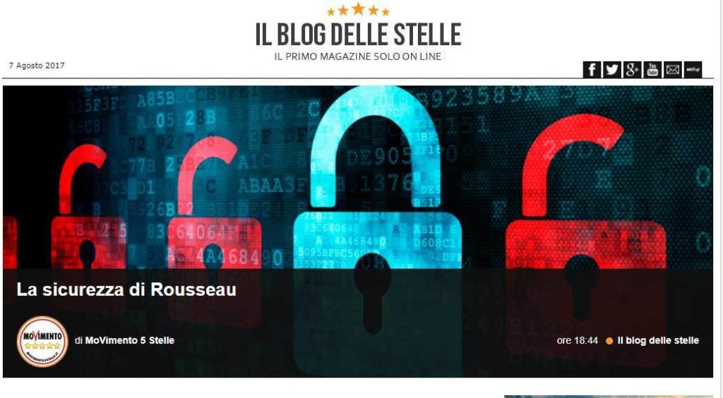 Rousseau e beppegrillo.it: di bug e di blog