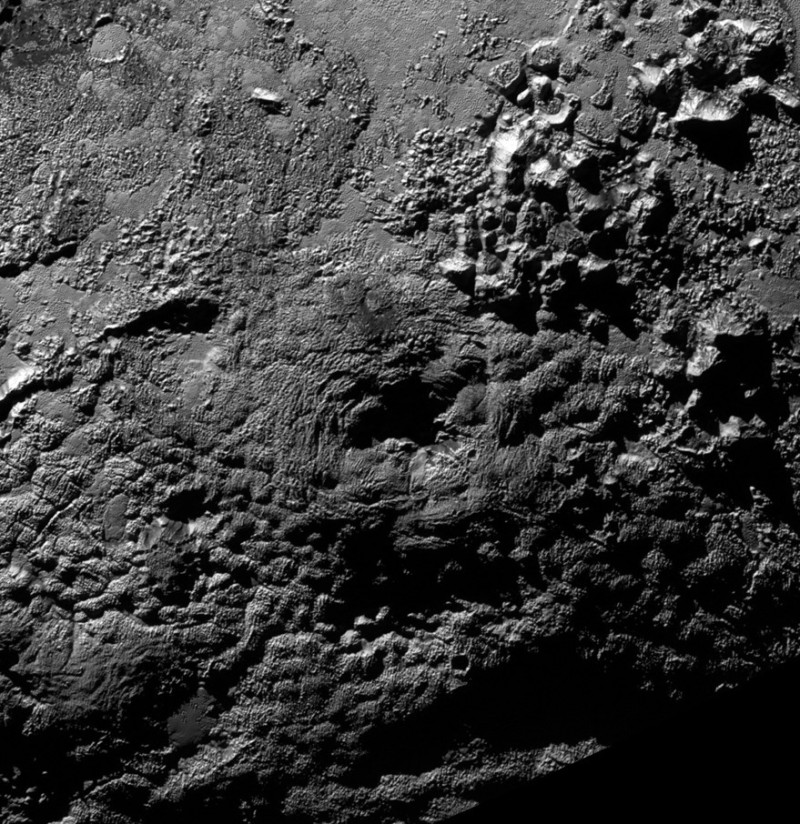 A possible ice volcano on Pluto (visible at center) is seen in this NASA image, captured by the New Horizons spacecraft, released on Nov  9, 2015