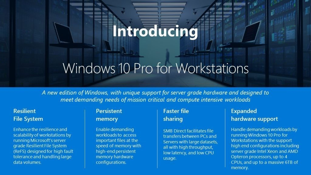 windows 10 pro workstations