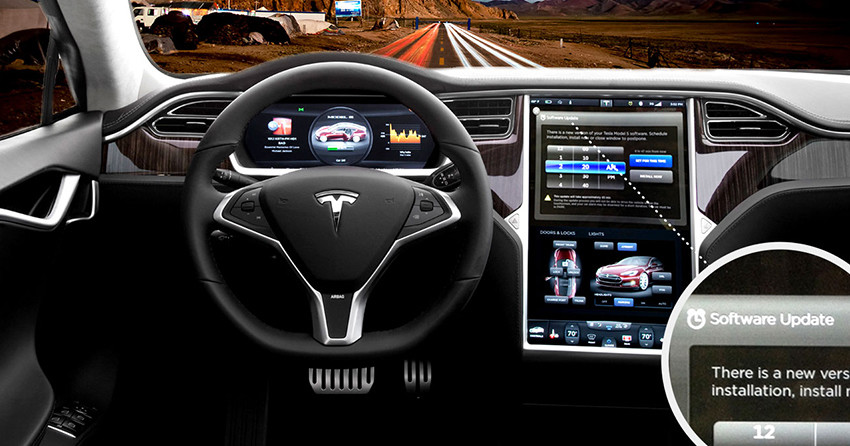 tesla motors inc new software upgrade to ease range anxiety