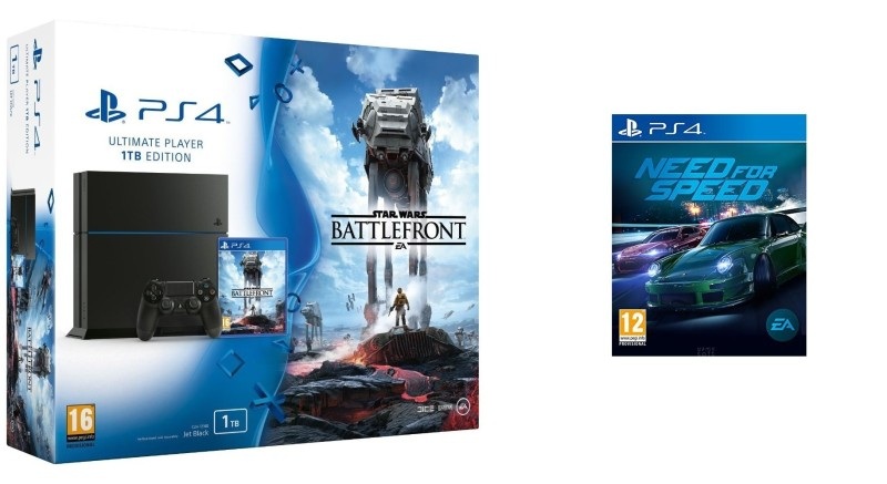 ps4 1 tb   star wars battlefront + need for speed