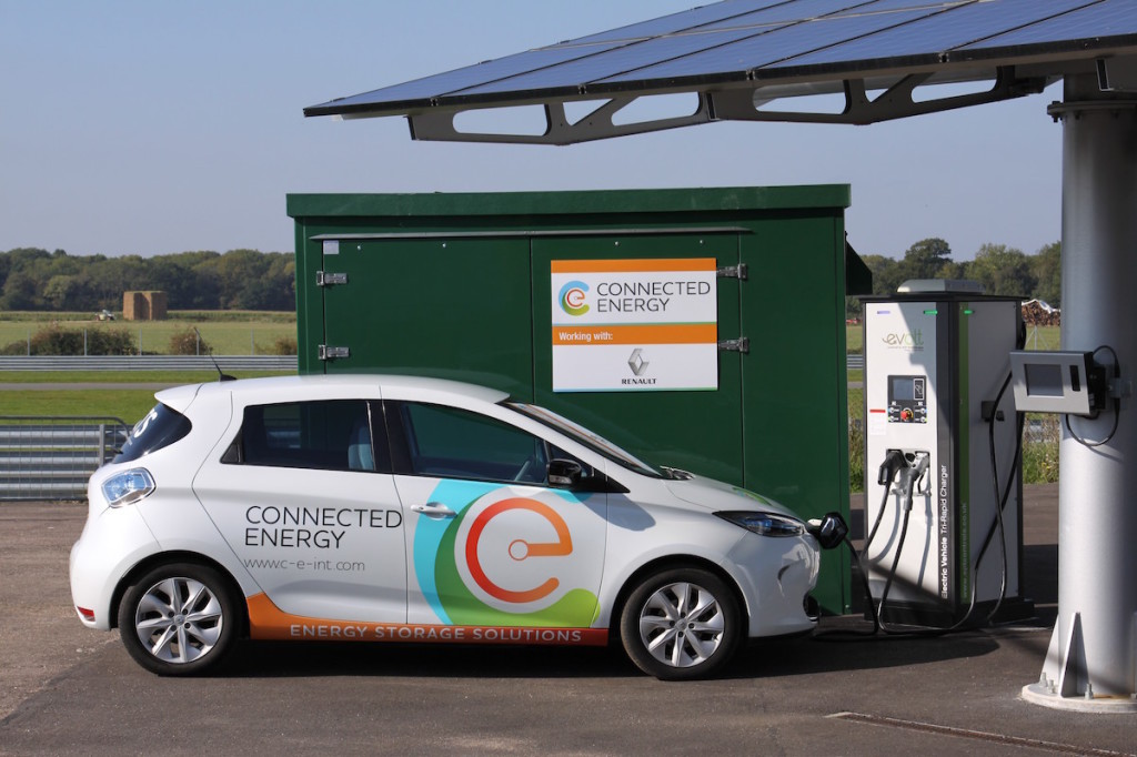 Connected Energy Ltd E Stor and Renault ZOE