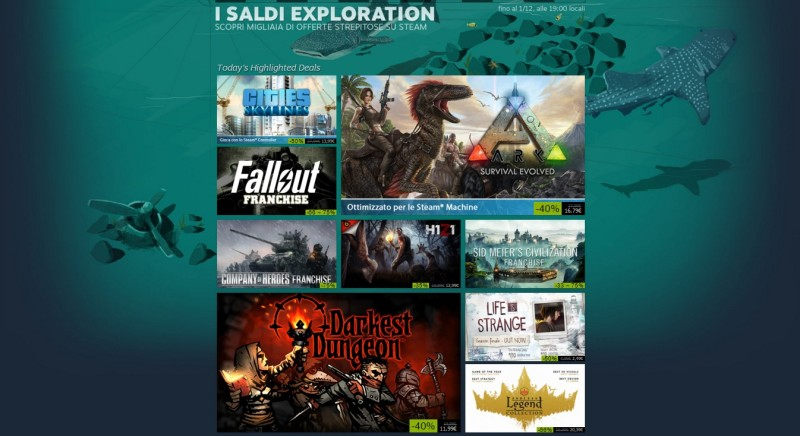 I saldi exploration di Steam
