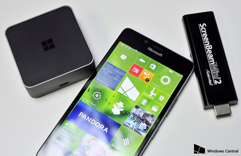 Continuum display dock lumia 950