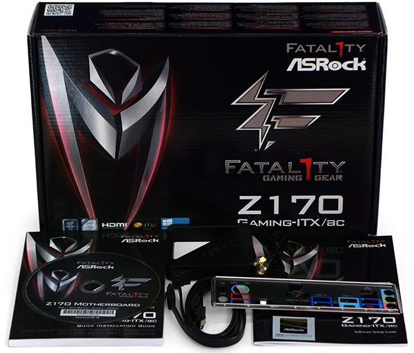 ASRock Fatal1ty Z170 Gaming ITX ac kit