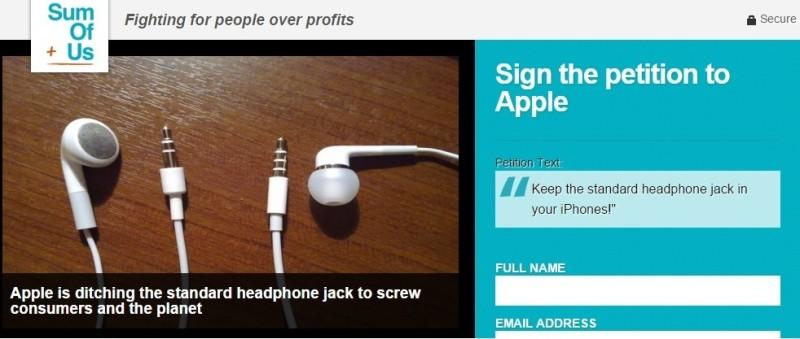 iphone7 petizione