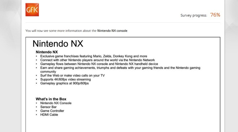Nintendo NX specifiche