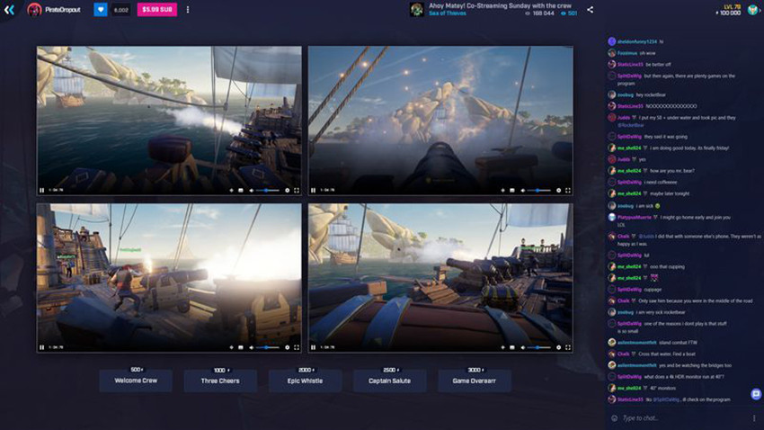 mixer co streaming sea of thieves pc 1920