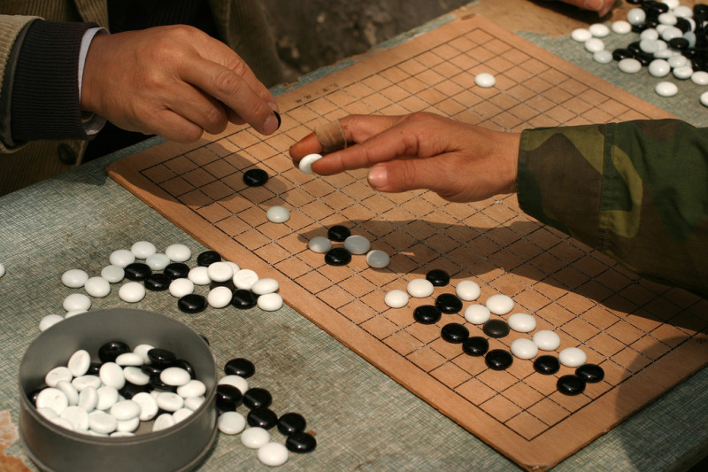 Playing weiqi in Shanghai