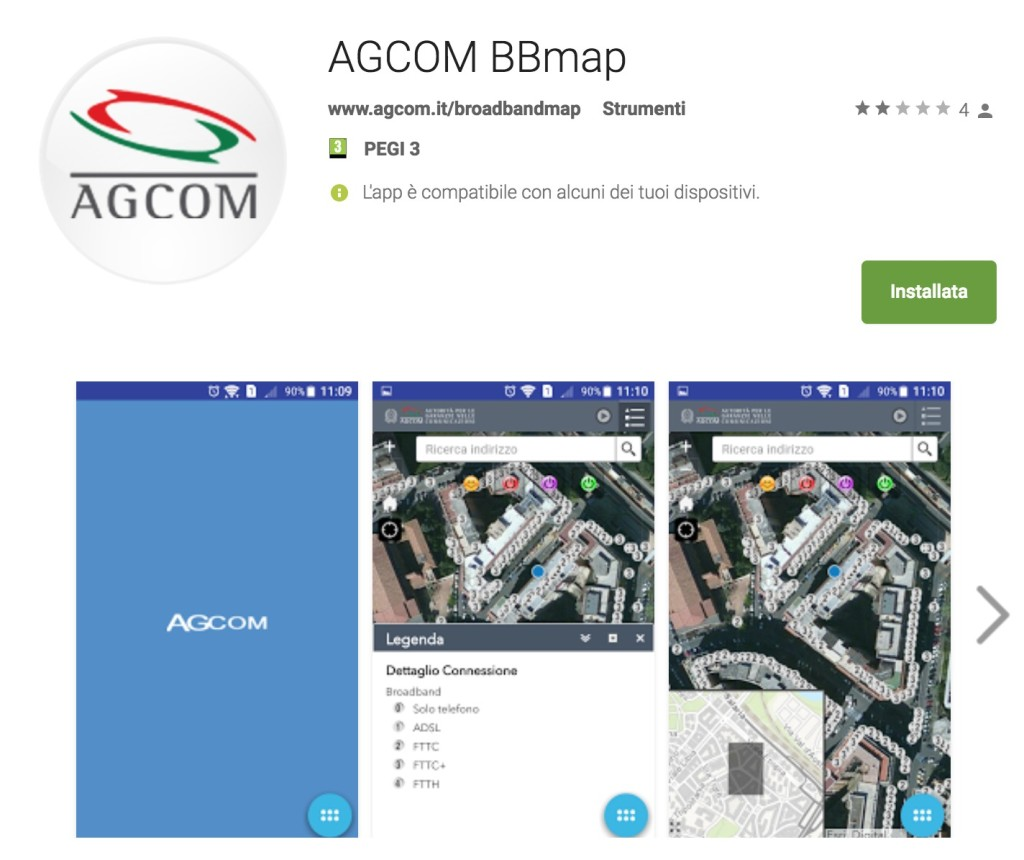 Copertura reti Internet broadband in Italia: BBmap, l'app dell'AgCom