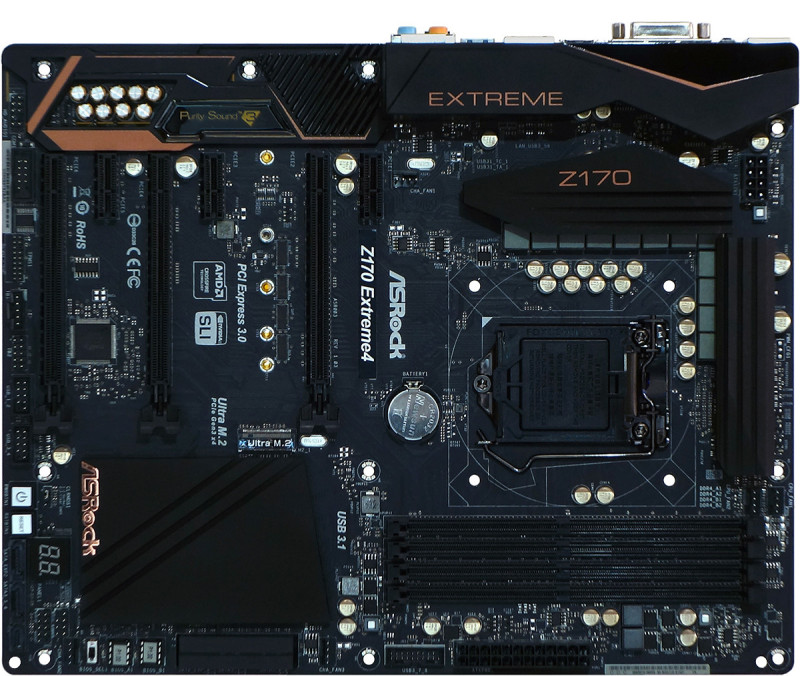 ASRock Z170 Extreme4 top