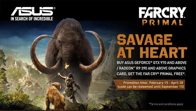 Far Cry Primal in regalo se compri una scheda video Asus