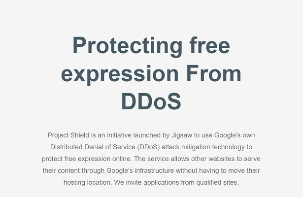 Google Project Shield per un Web libero e indipendente