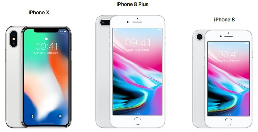 iPhone X iPhone 8 iPhone 8 Plus differenze 2 (1)