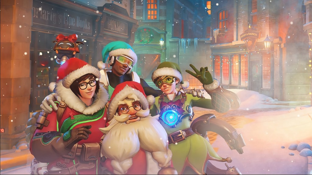 overwatch winter wonderland torbjorn mei tracer and lucio (9014)