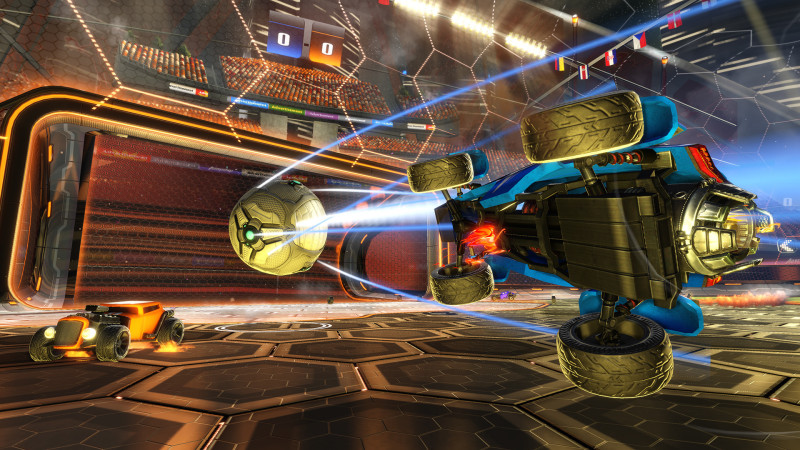 rocket league in game