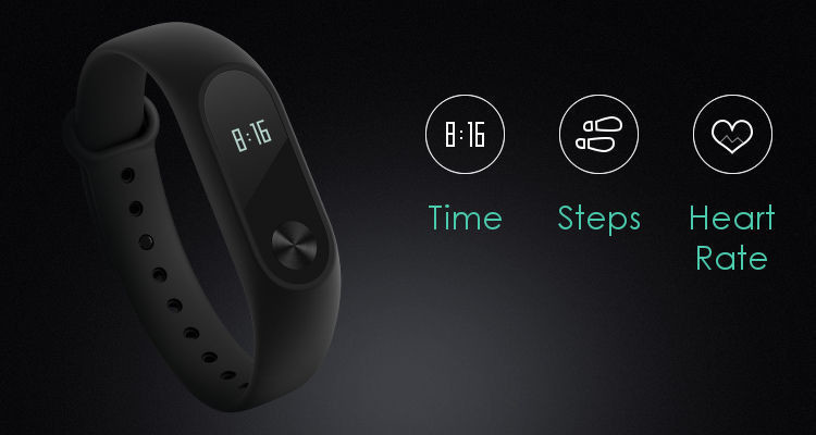 MiBand 2 time steps heart rate